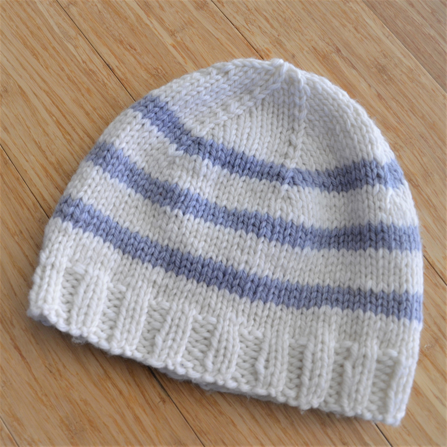 d3b0f9153e4 Knitting 102  Knit a Striped Hat (1 of 3) — Spry Whimsy Fiber Arts