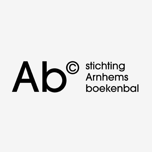 Logo Arnhems Boekenbal   ontwerp logo: Marloes de Laat en Roel Vaessen