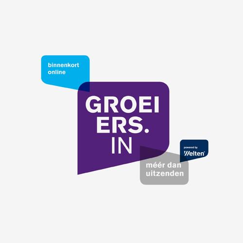 Logo Groeiers.in van Welten   ontwerp logo: Marloes de Laat en Roel Vaessen