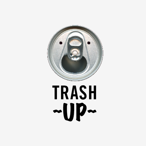 Logo + naam TrashUp een project van D&B applied behavioural science   Logo ontwerp:  Marloes de Laat i.s.m Esther van Winkel