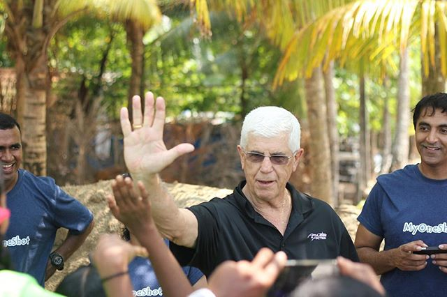 Starting off 2017 with a #throwback to the time former legendary Lakers coach, Del Harris was with us in Chellanam. Grateful to all our friends and partners who believe in #impossible dreams our athletes.  #lakers