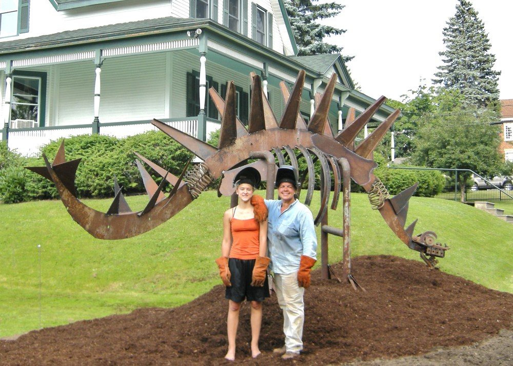 July 2010:   Fern the Fiddlehead Dinosaur