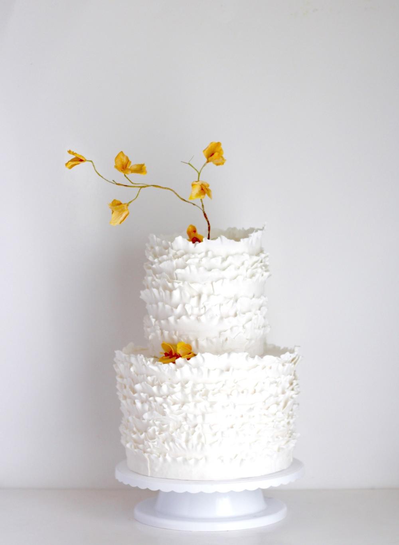 trinidad and tobago wedding cake designer jaime gerard cake- yellow bougainvillea cake