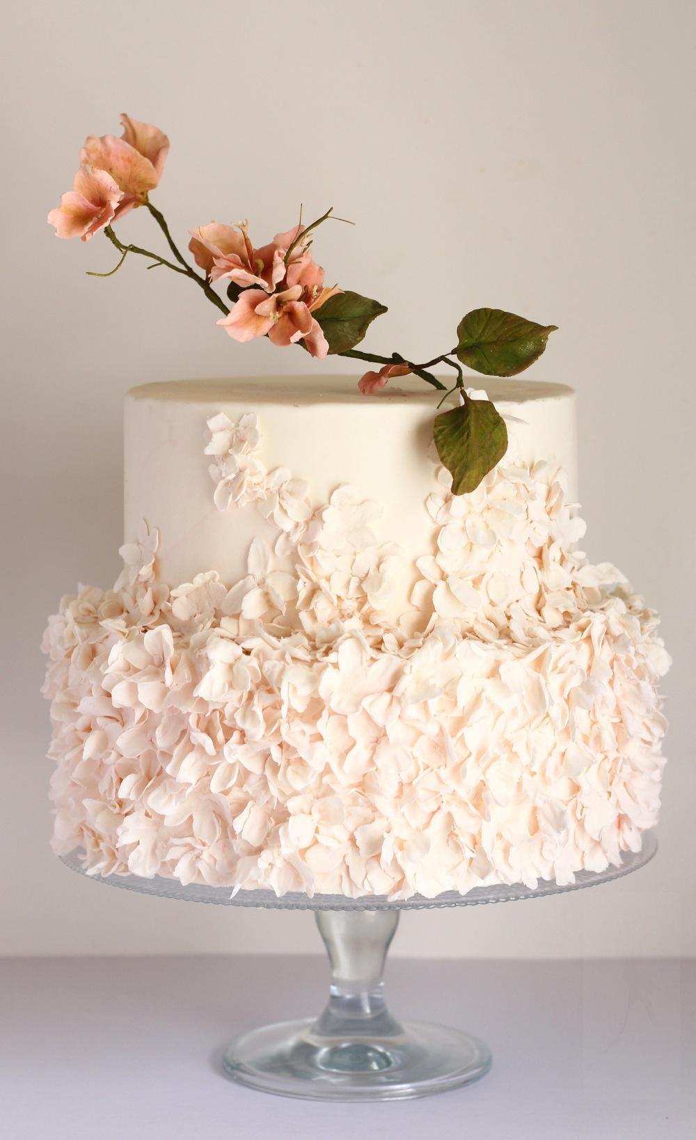 trinidad and tobago wedding cake-bougainvillea by jaime gerard cake