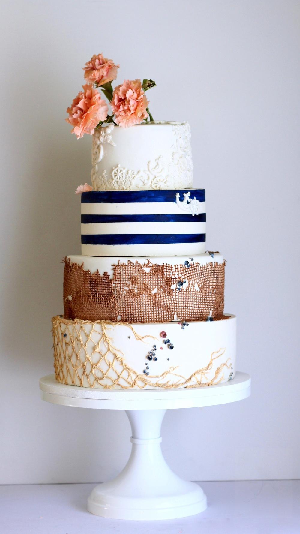 nautical caribbean wedding cake trinidad and tobago by jaime gerard cake