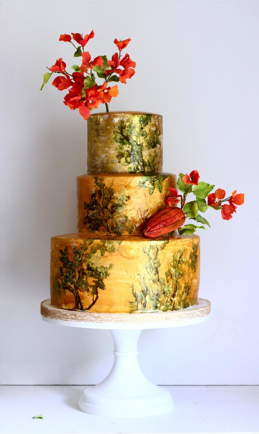 custom wedding cake trinidad and tobago-by jaime gerard cake