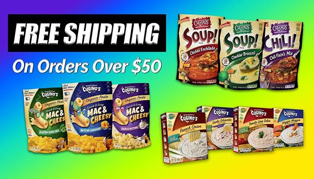 Our Monthly deal! Check it out and order today! www.cuginos.com  #freeshipping #delicious #ordertoday #soupseason #monthlydeal #soup #macncheese #dipmix  #gottahaveit #yummy #gourmetfood