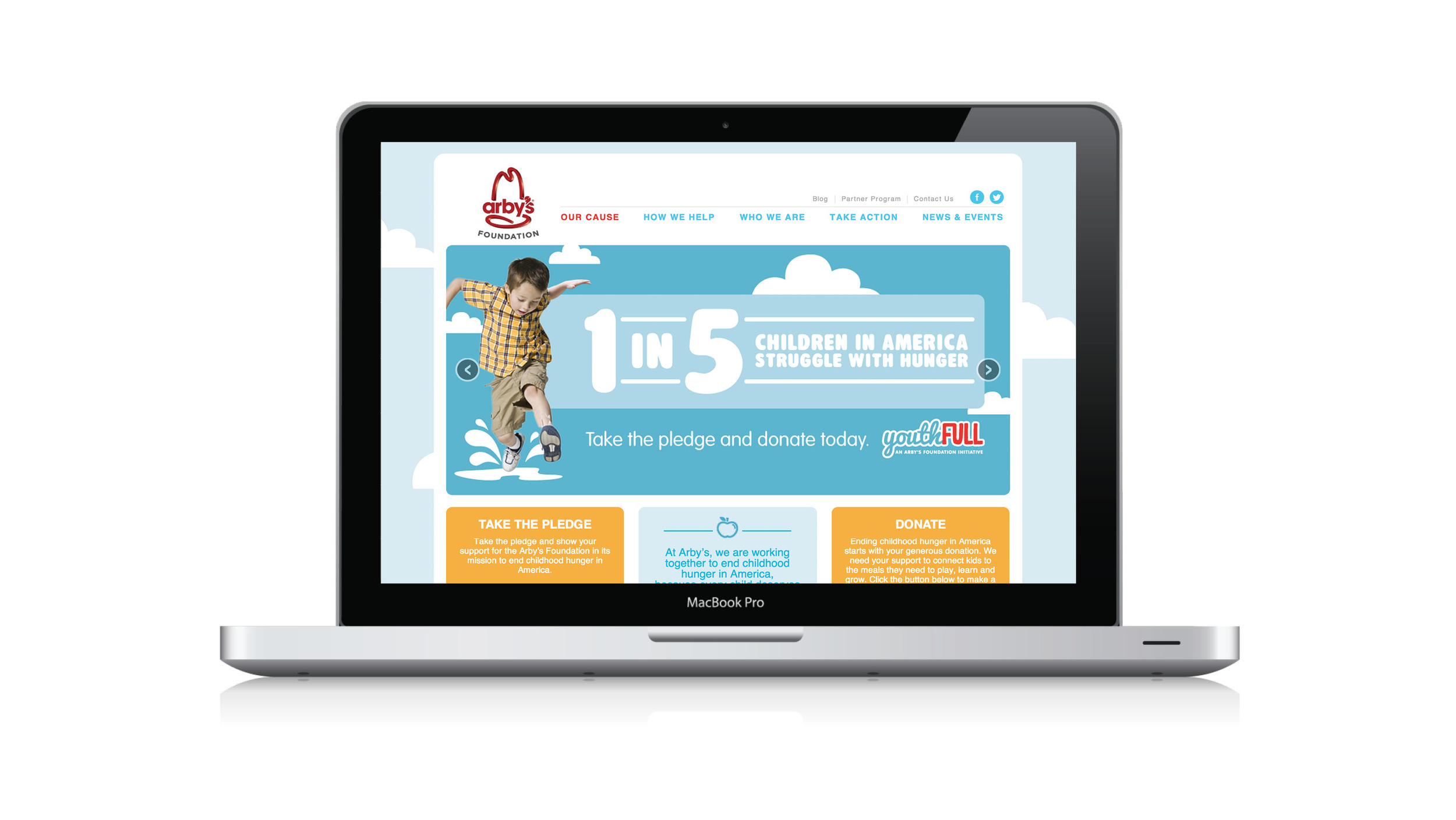 Arby's Foundation Website Design