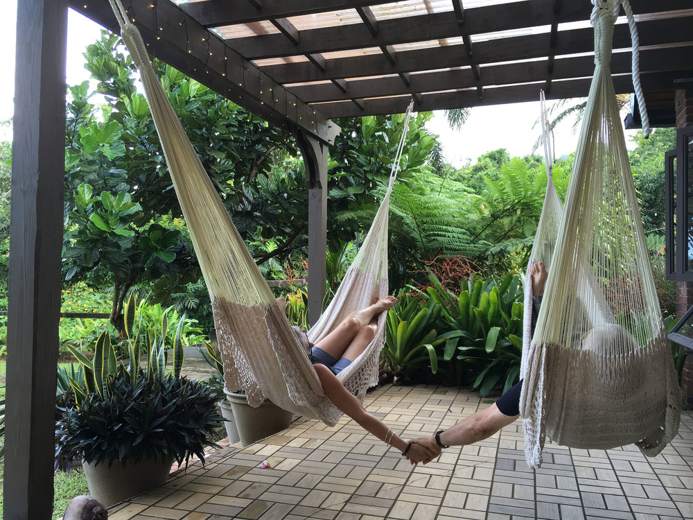 Hammocks on Garden Suite Porch