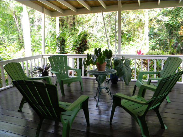 Take in the rainforest without ever leaving home on Margarita's spacious terrace.