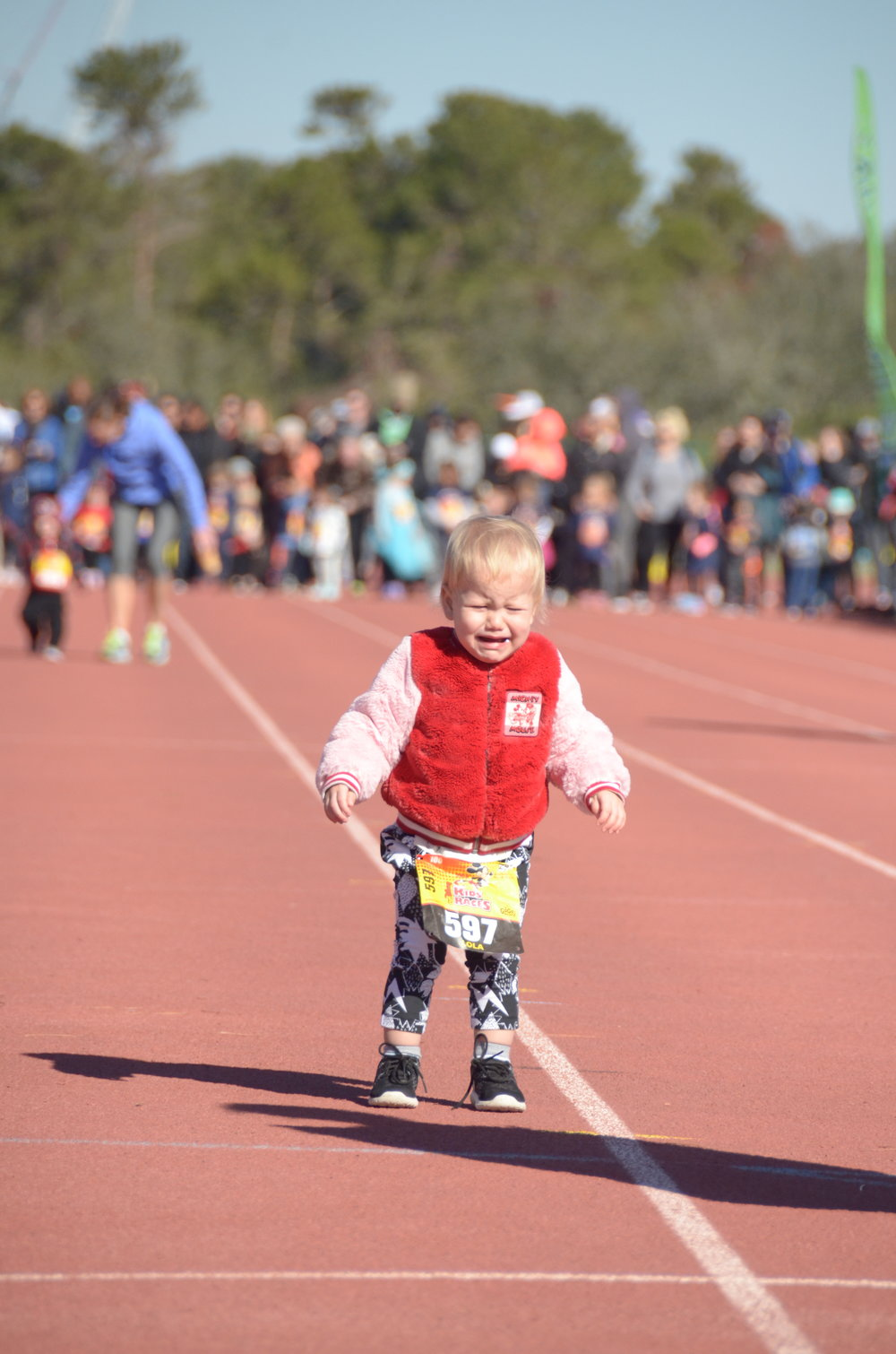 When my daughter is in the Olympics I'll remind her of her first race.