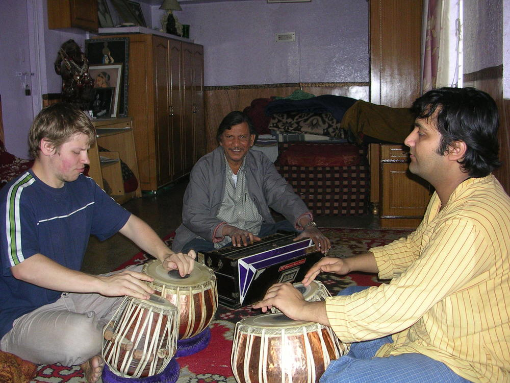 My first trip to India!  Slowly learning with the help of Pandit Vishal Nagar