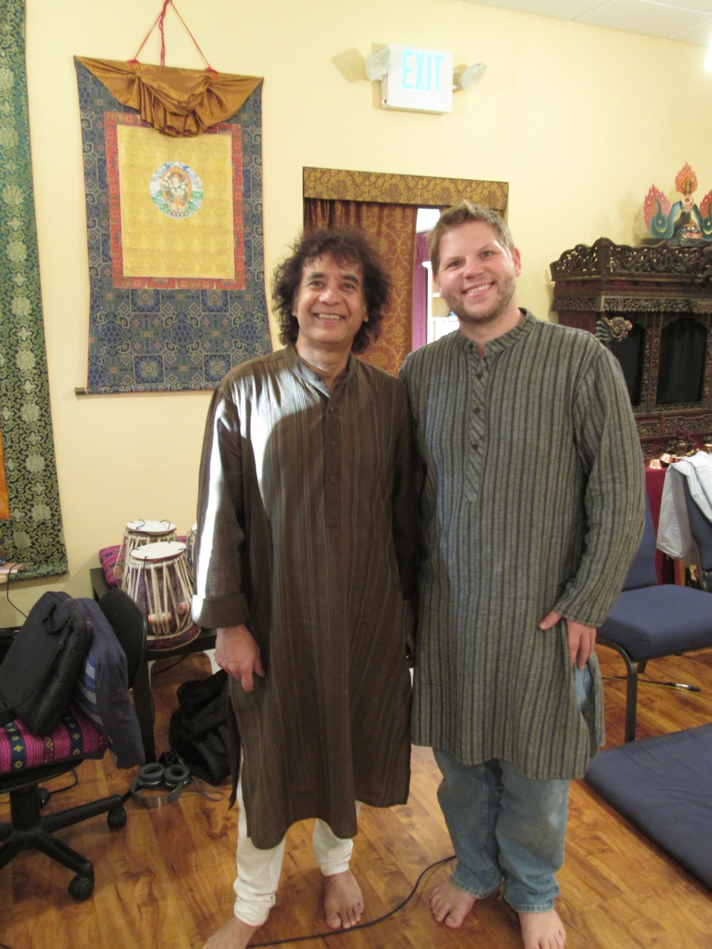 With Ustad Zakir Hussain in California 2015