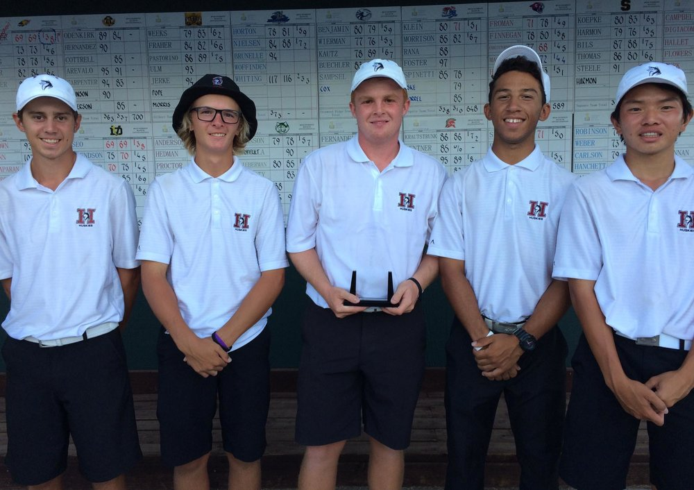 2016 Dobson Ranch Invitational Champions (Left to Right: Nic Hedman, Ryan Sanchez, Mason Andersen, Andrew Proctor & Brian Luc.