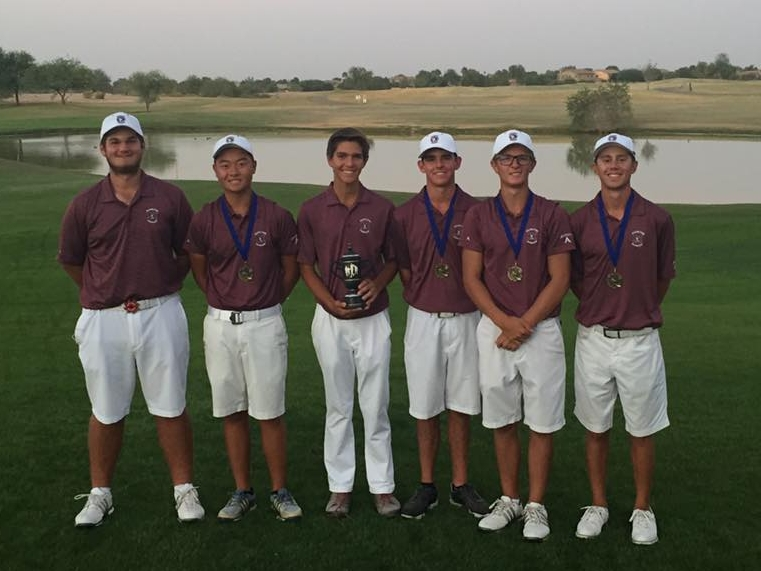 The HHS Boys Golf Team won the 2017 Chandler City Shootout today at Bear Creek GC with a 30 storke victory! Sophomore Ethan Adam won the individual title with impressive rounds of 70-68=138 (-4). Ethan birdied five of his last six holes today to get the win! Four Huskies finished in the top 10. Senior Ryan Sanchez 72-69=141 (2nd) senior Nick Hedman 72-72=144 (6th) and junior Alexander 74-74=148 (9th). Sophomore Dalton Marsh 77-74=151 (15th) rounded out the lineup.