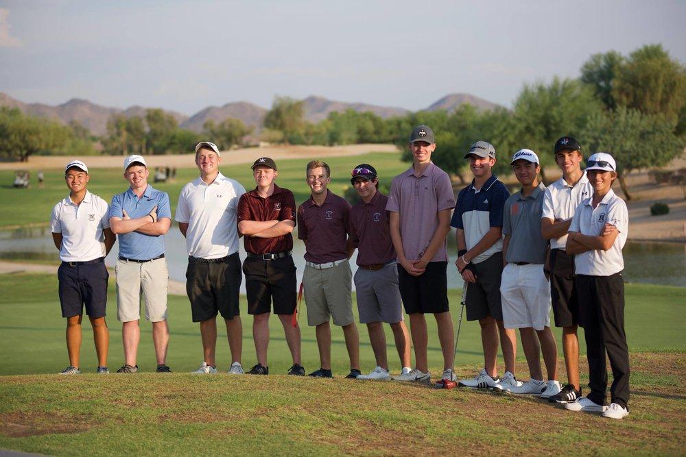 2018-2019 Boys Varsity Golf Team Roster  Alexander Yu (12) ★ , Brandon Hill (12), Caden Rice (12), Calum Dunn (12), Kanoah Cunningham (12), Noah Bates (12), Dalton Marsh (11), Ethan Adam (11) ★ , Andrew Scroggins (11), Alexander Paul (10), Cole Sledge (10), Johnny Walker (10), Mahanth Chirravuri (9)