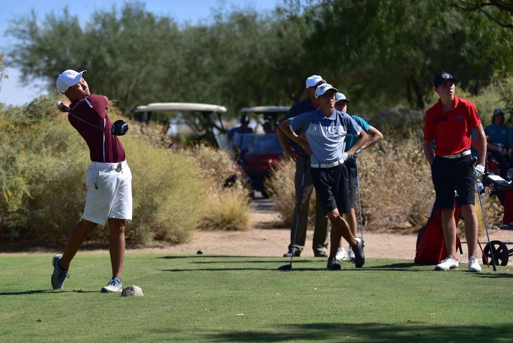 Senior Alexander Yu set a new school 9-hole Scoring Record with an incredible round of 31 (-5) that included 3 birdies and an eagle! Previous school match record at 4-under par was shared by Alexander Yu, Andrew Yun (Class of 2009/PGA Tour) & Mason Andersen (Class of 2015/ASU)