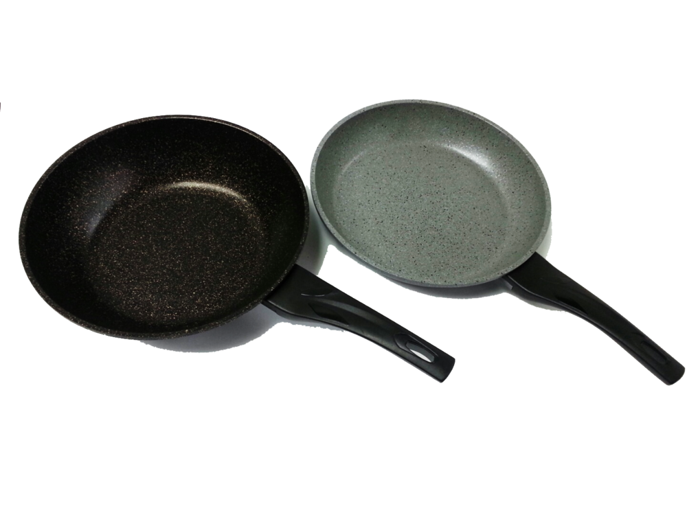Granite wok and frying pan front.png