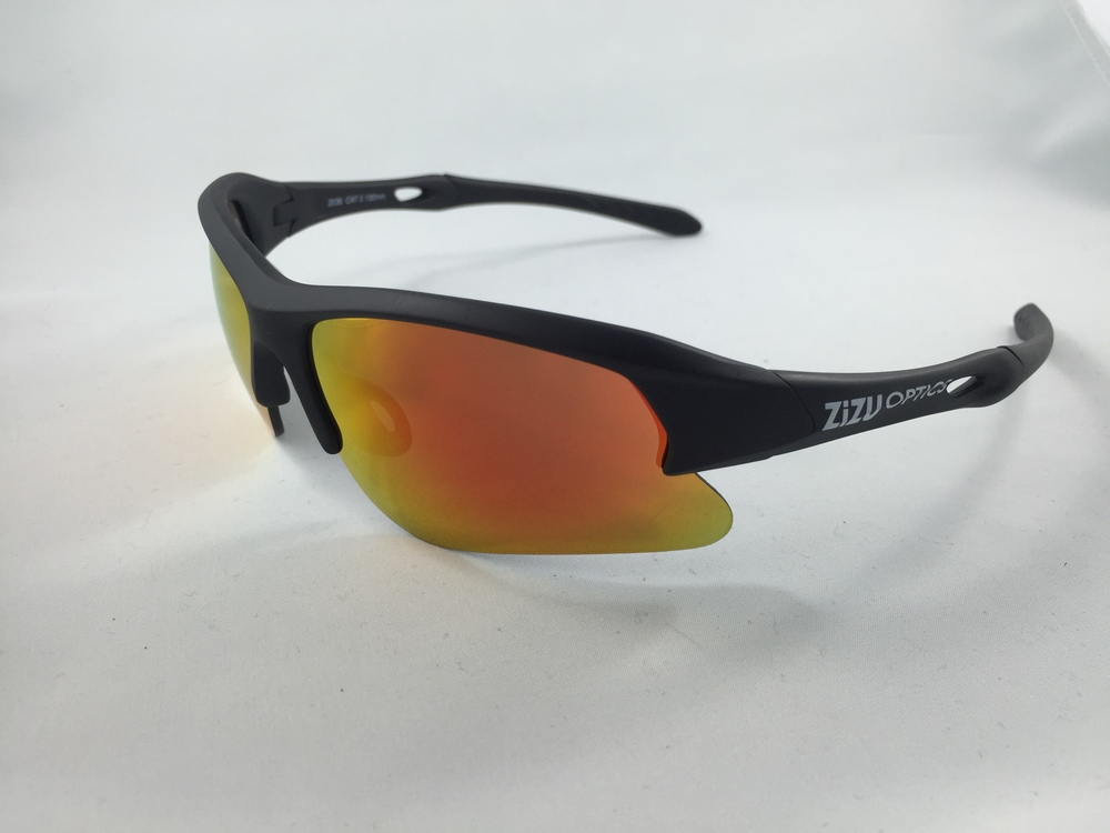 TRX Matte Black- Red Revo Lensand clear lens and strap $89 plus tax