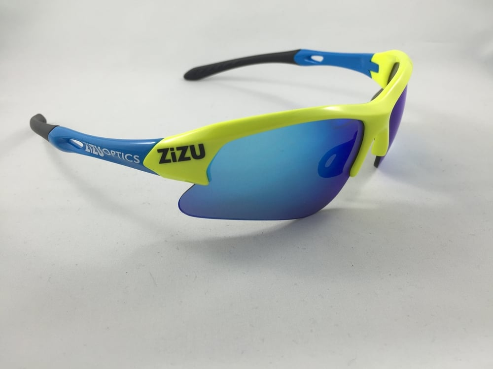 TRX Yellow Blue Blue Revo    Category 3 Lens  $89 plus tax   Frame width 130mm