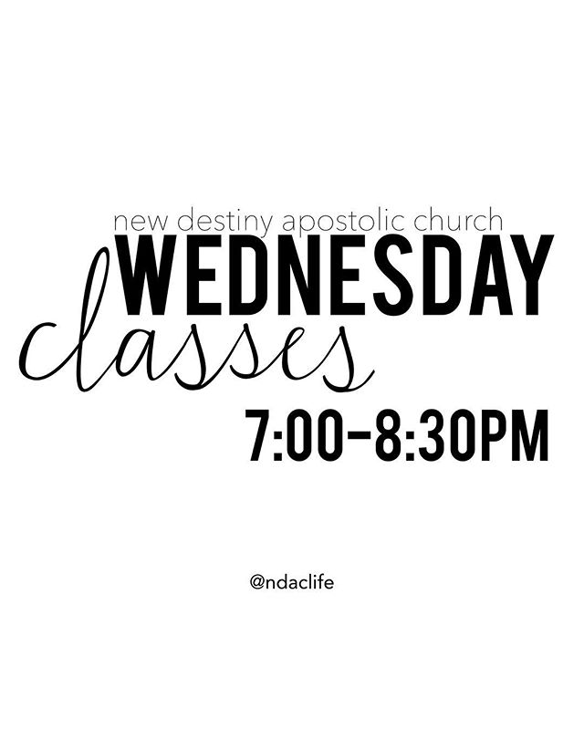 We are so excited to resume our Wednesday night classes tonight at 7pm! We have classes for all ages so bring your family and friends.  7174 Manchester rd. Maplewood, Mo 63143 . . #kingdombuilding #maplewoodmo #newdestinyapostolicchurch