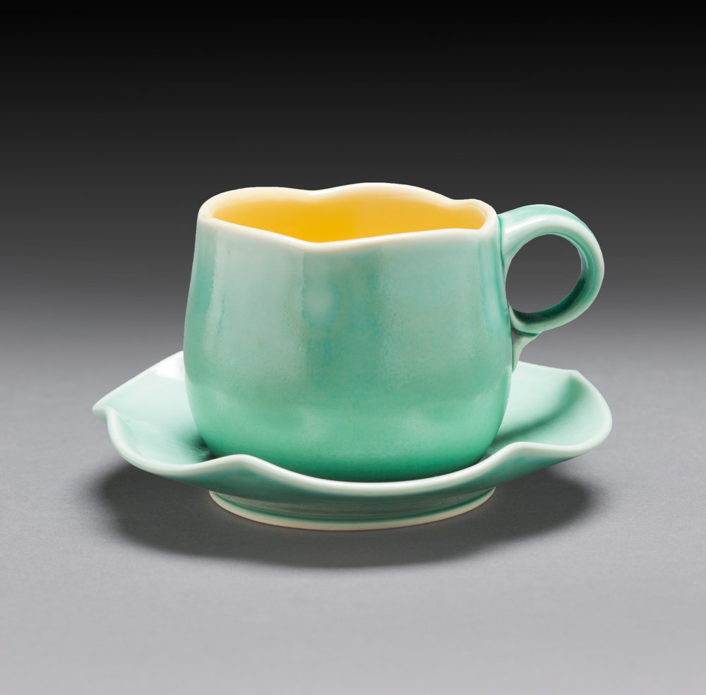 Lilly Pad Cup and Saucer