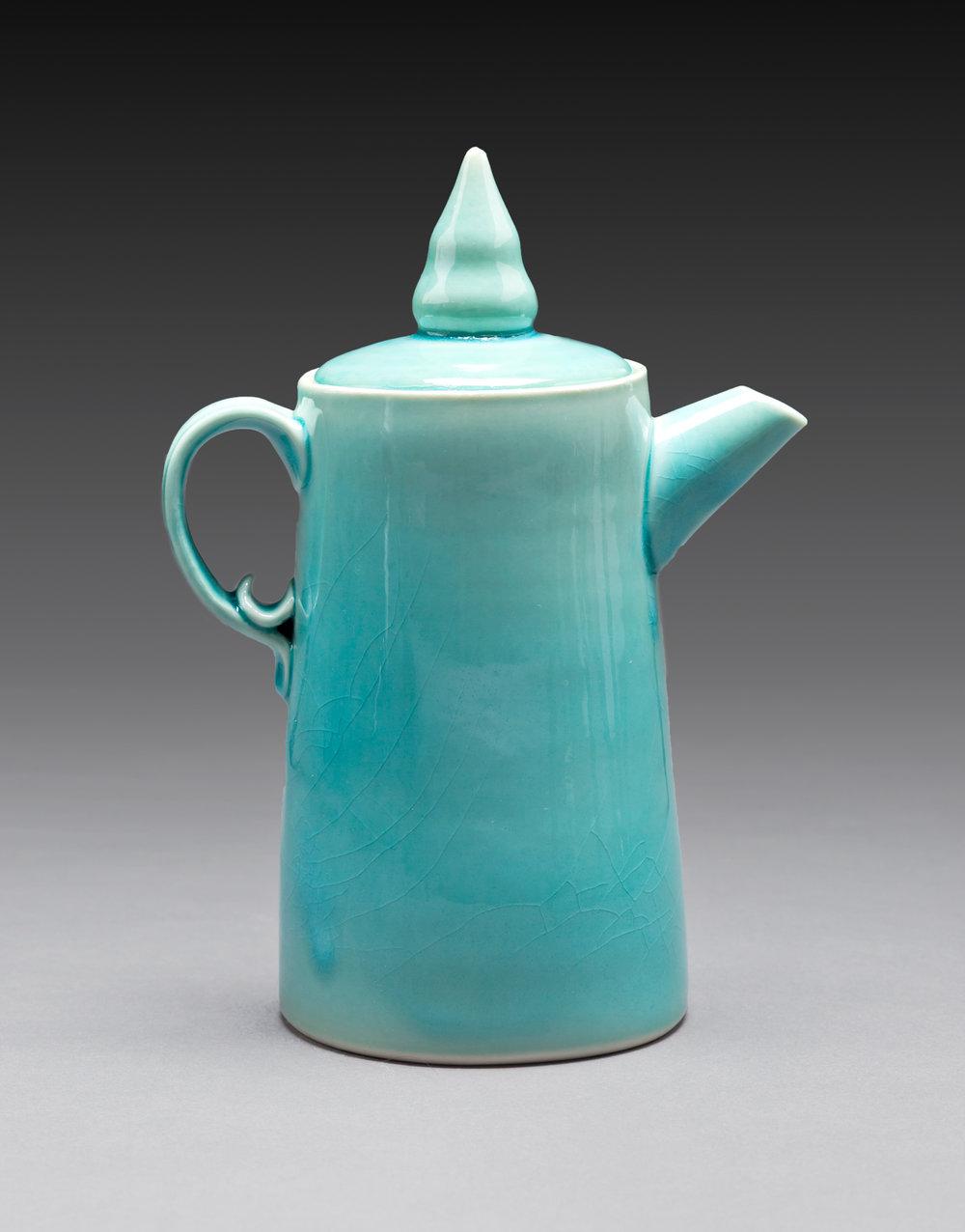 Turquoise Coffee Pot