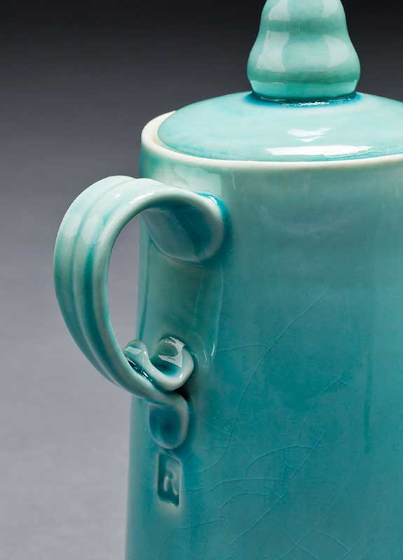 Turquoise Coffee Pot Detail