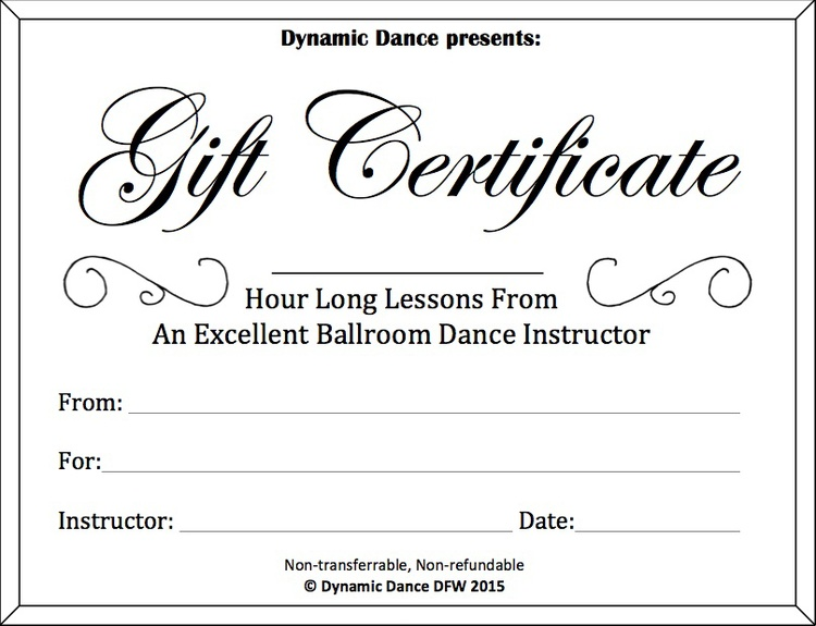 Gift certificates dynamic dance dfw classic white yelopaper Images
