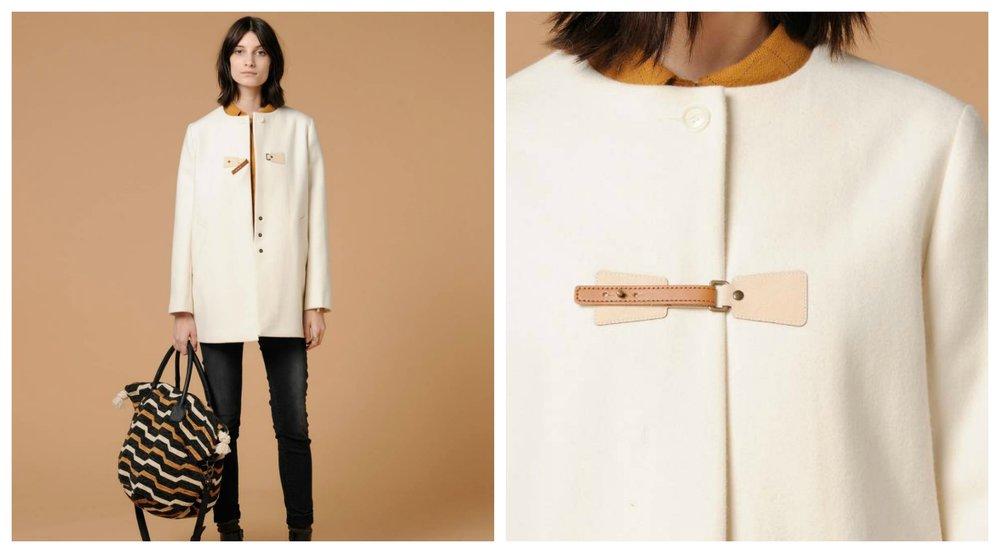 Manteau guérande en drap de laine - Sessùn