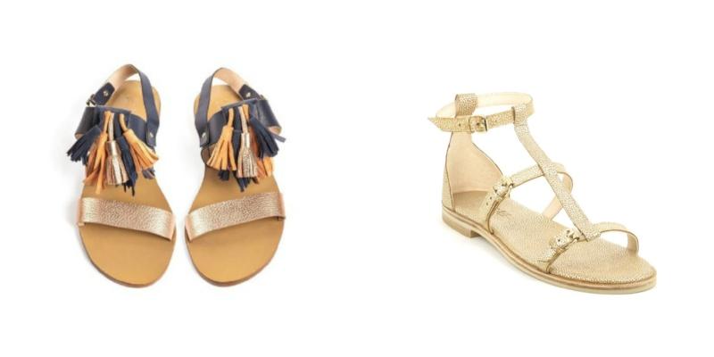 Sandales Pompons Vanina Escoubet - Sandales Katy Craie