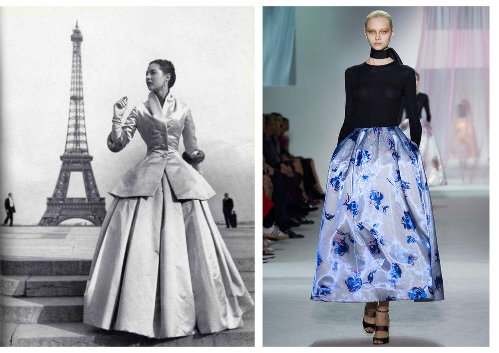 Le New Look de Christian Dior en 1947, sur le podium du créateur en 2013