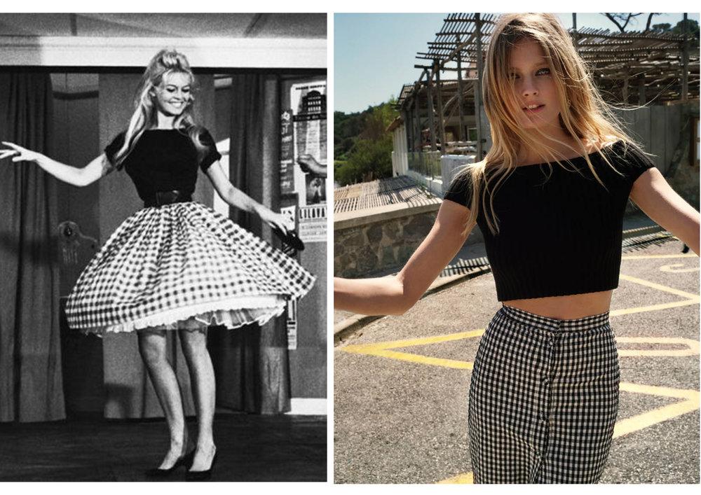 France Galle icône de la mode française en 1960 popularise le motif vichy