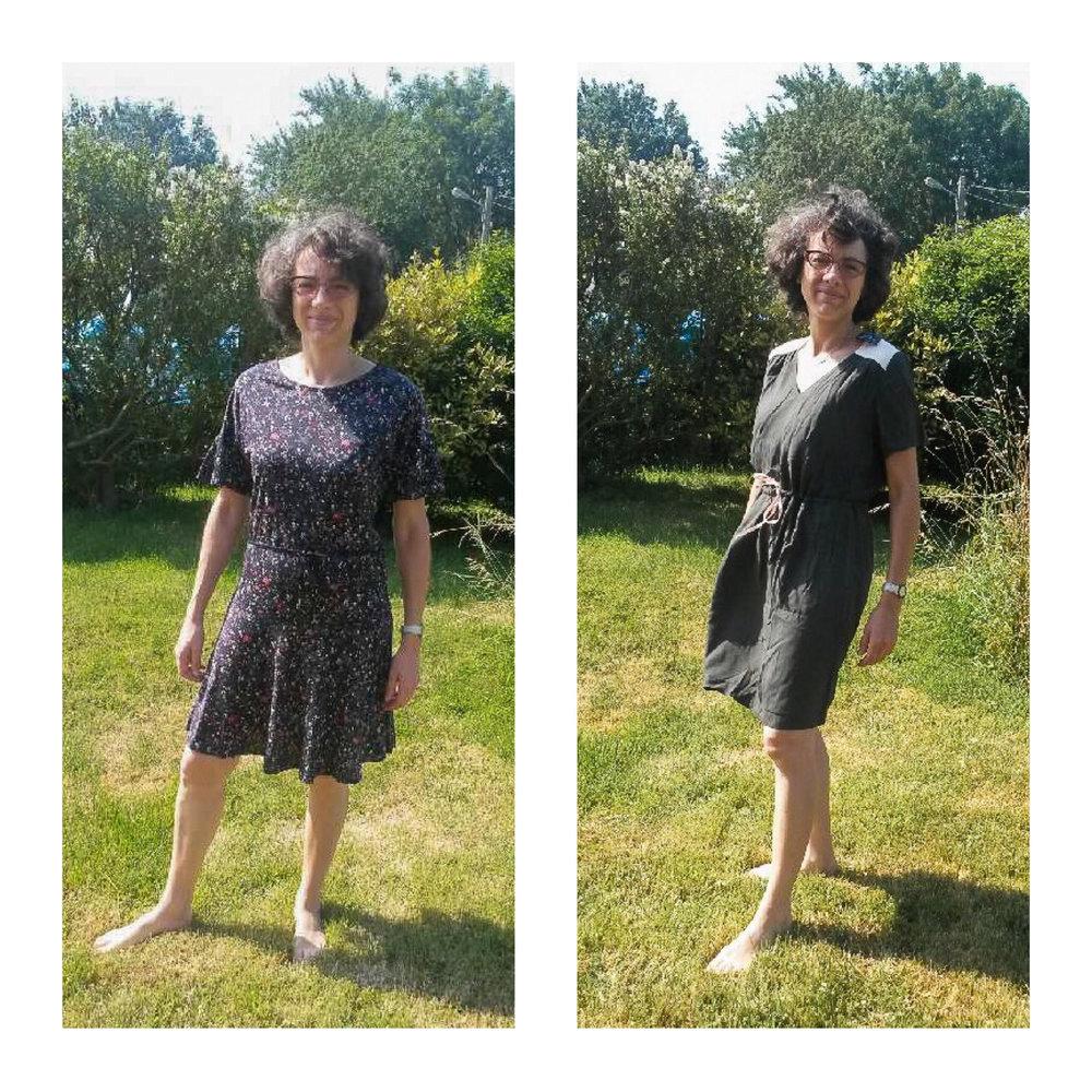 De gauche à droite : robe Sessùn, robe Blune