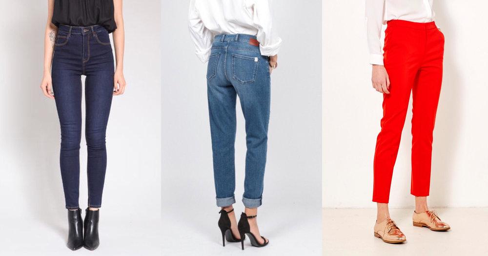 pantalons morphologie en x