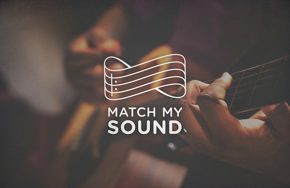 Logo concept for a music app, aimed to help people teach themselves instruments.