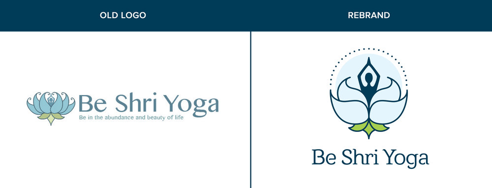 Logo and branding revamp for a local yoga studio.
