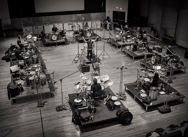 Behind-the-scenes from Man of Steel soundtrack. Recording session for drum orchestra.