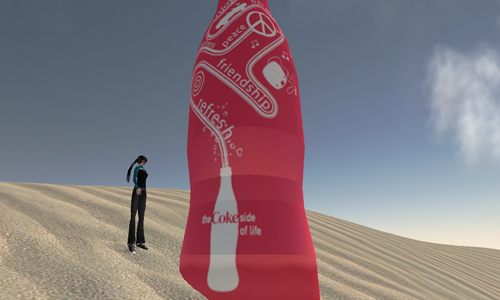 Virtual me with bottle