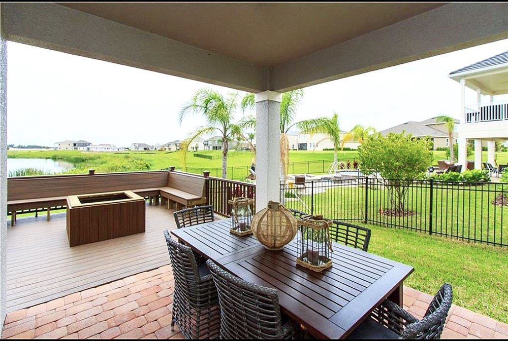 ...entertain on your porch overlooking the lake!