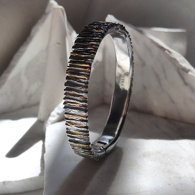 Studio Thursday. Keum-Boo B-143 Bracelet  #18k & #sterlingsilver #singlecommission . . . . . . . #studio  #fashionaccessories #jewelrygram #sterlingsilver #fashion #silverjewelry #newyork #new #womensaccessories #soho #finejewelry . #cuff #interiordesigner #designs #mindtheminimal #ファッション #style #スタイル #art  #アート #ジュエリー #street #urban #energy #beauty #essential #luxury #luxurydesign