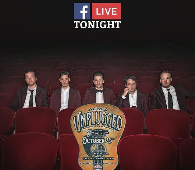 Catch us live in three places tonight! Live video stream on wranglernetwork.com and live stream acmeradiolive.com starting at 7:10! Catch 2 songs on our Facebook live around 8:50!
