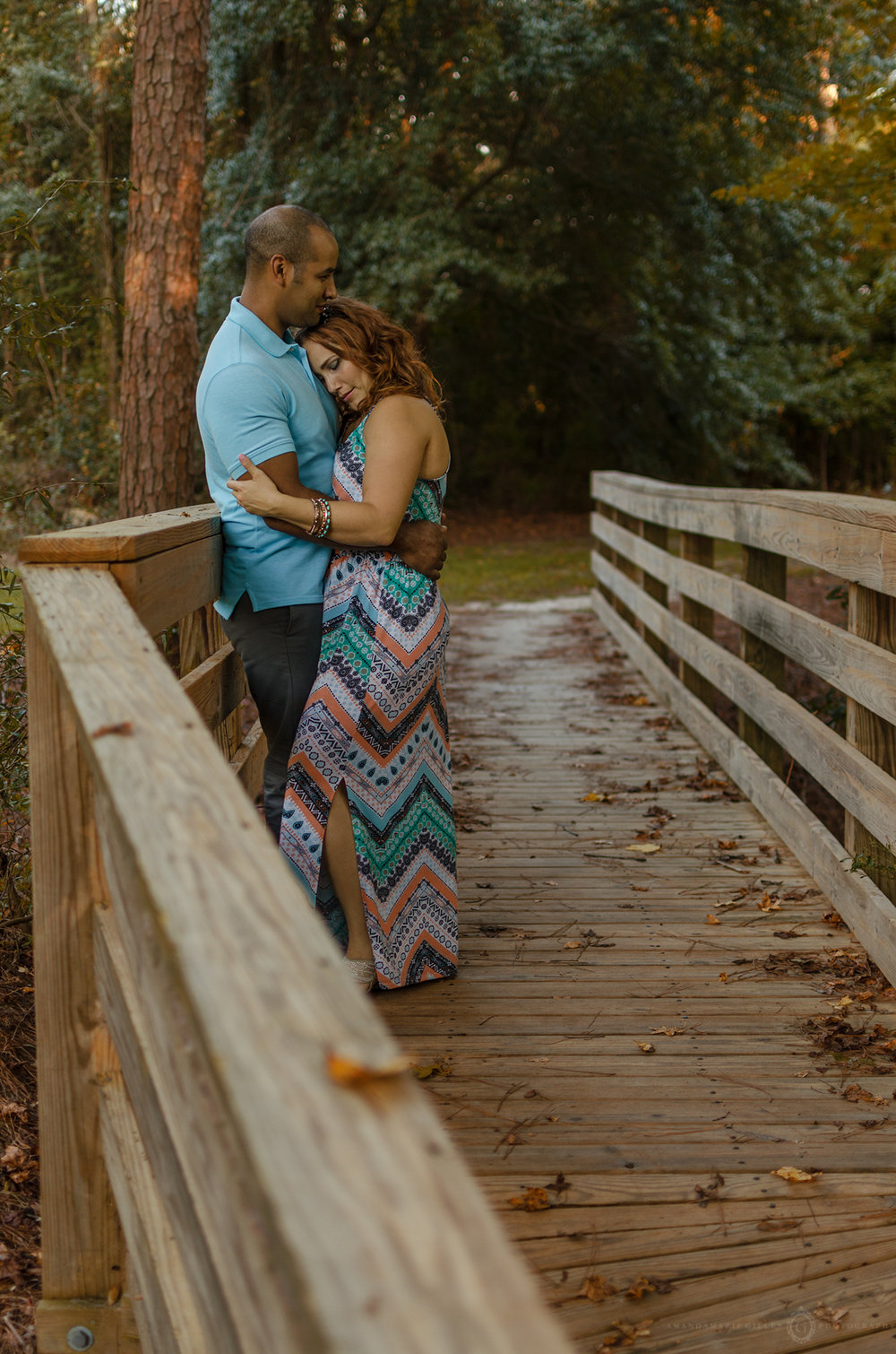 couples fall photo session Wilmington, NC