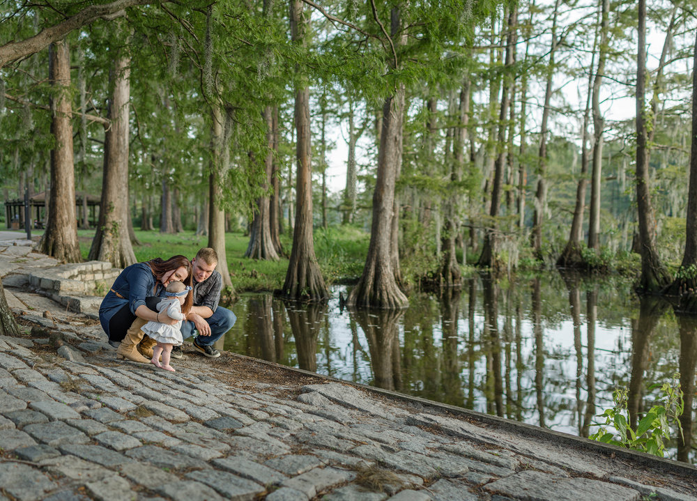 Family sessions at Greenfield Lake in Downtown Wilmington, NC