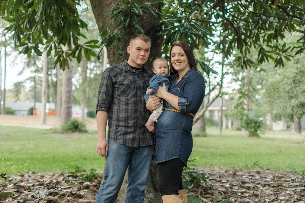 family moments at Greenfield Lake NC