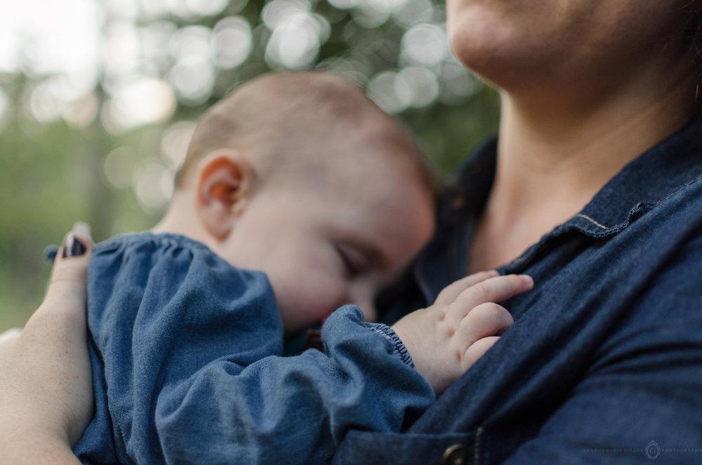 sleeping baby photos greenfield lake wilmington, nc