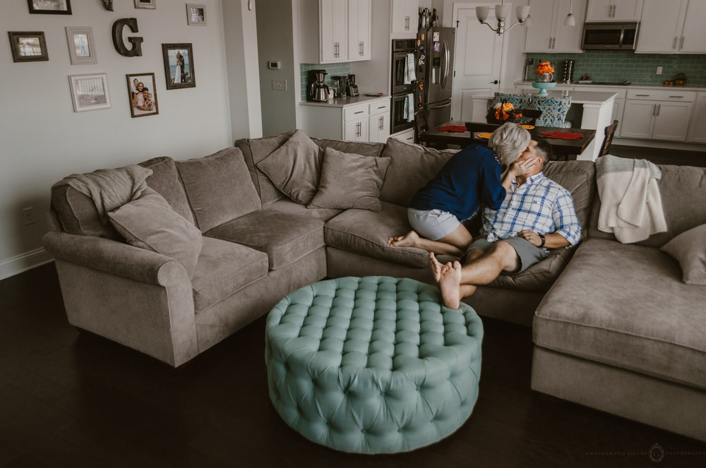 intimate couple in- home session wilmington nc