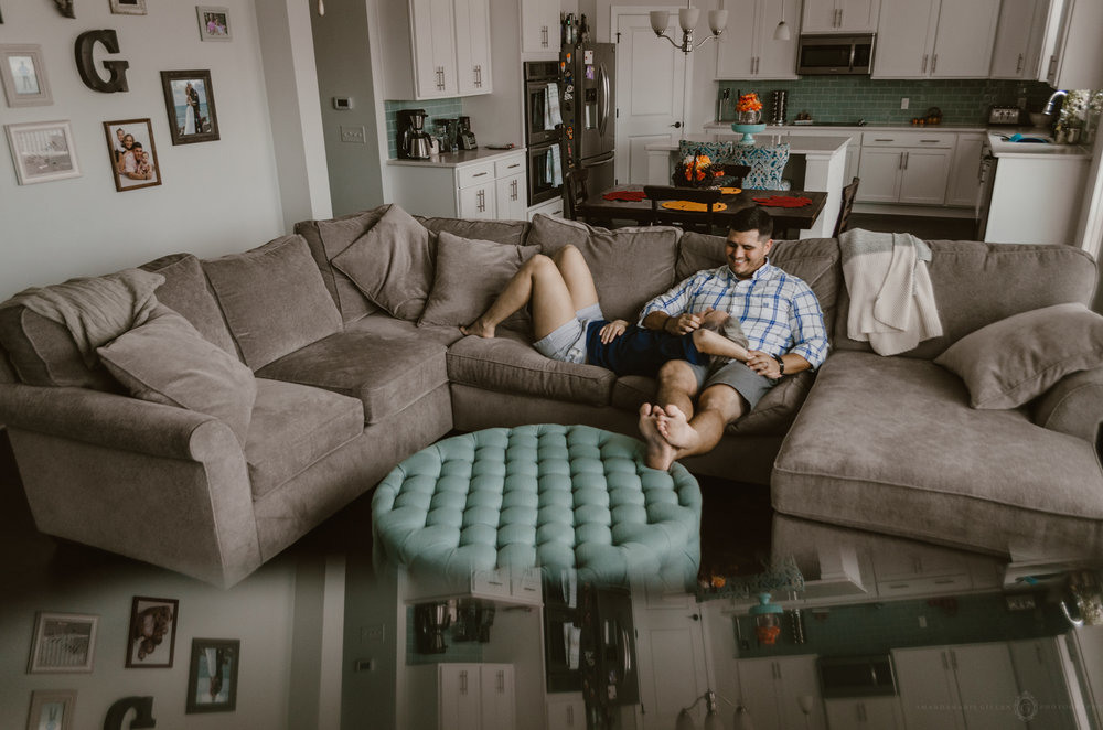 in home couples session photography wilmington nc
