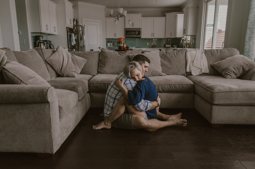 intimate in home couples photo session wilmington nc