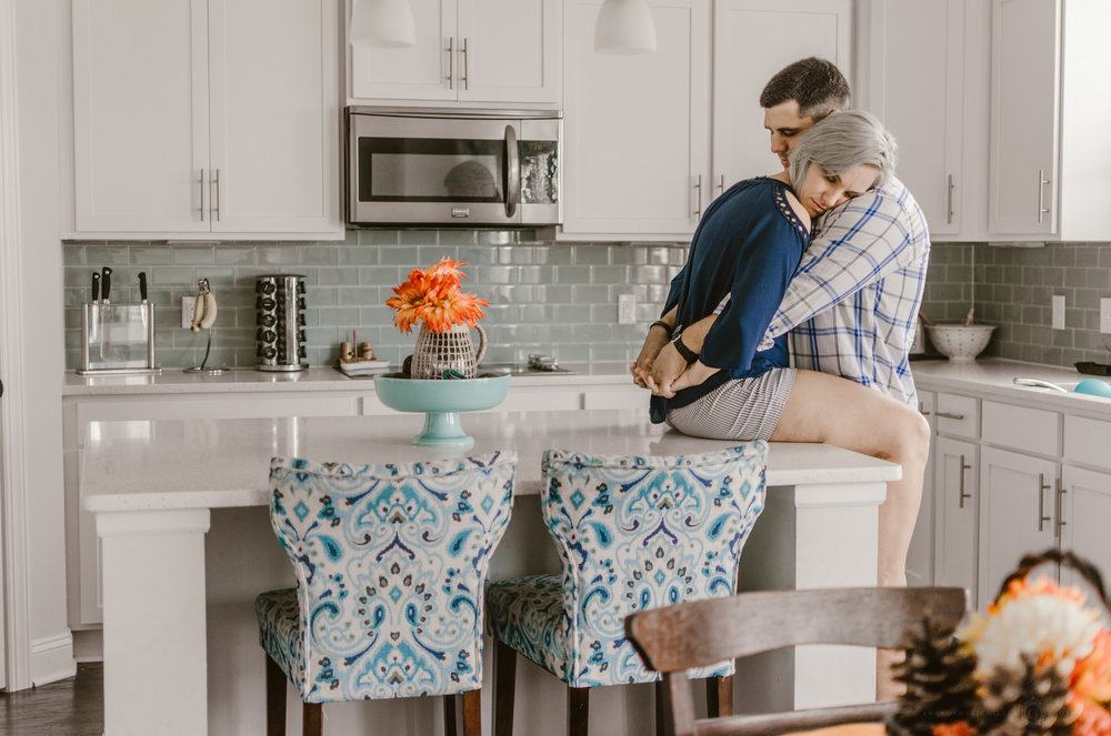 in-home intimate couples photo session wilmington nc